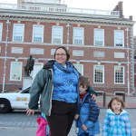 Clare, Spencer, Vera (and Meg) by Independence Hall