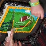 Spencer's football cake