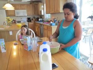 Sadie stirring pudding mix
