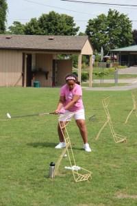 Sadie swinging