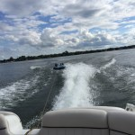 Tubing on Whitmore Lake