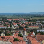 View of Nordlingen from the top of the church tower