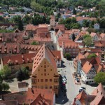 Looking down at the town of Nordlingen