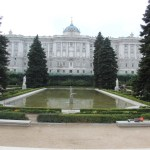 View of the Palacio Real de Madrid from the gardens