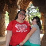 Meg and Clare in Park Guell