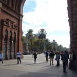Passing through the Arc de Triomf