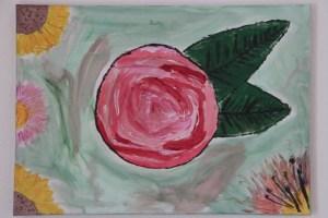 Rosa rosado rosina