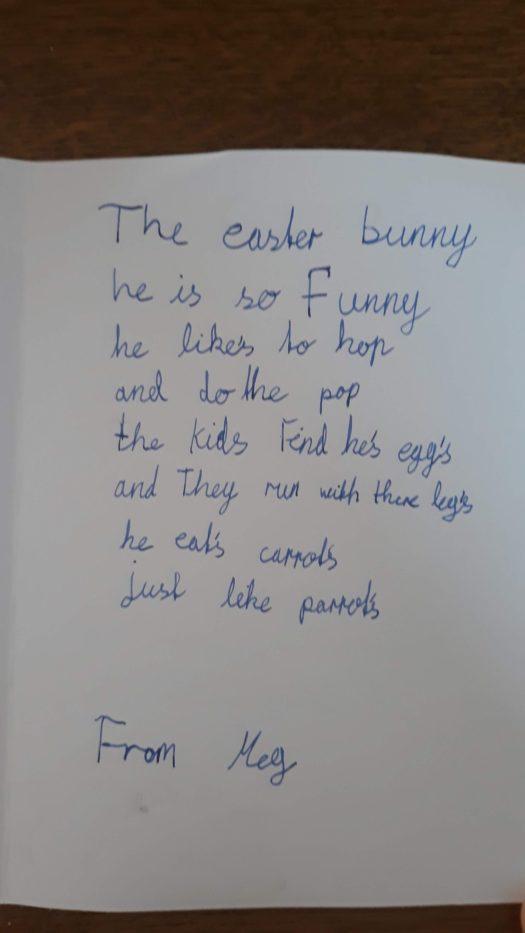 Easter card poem