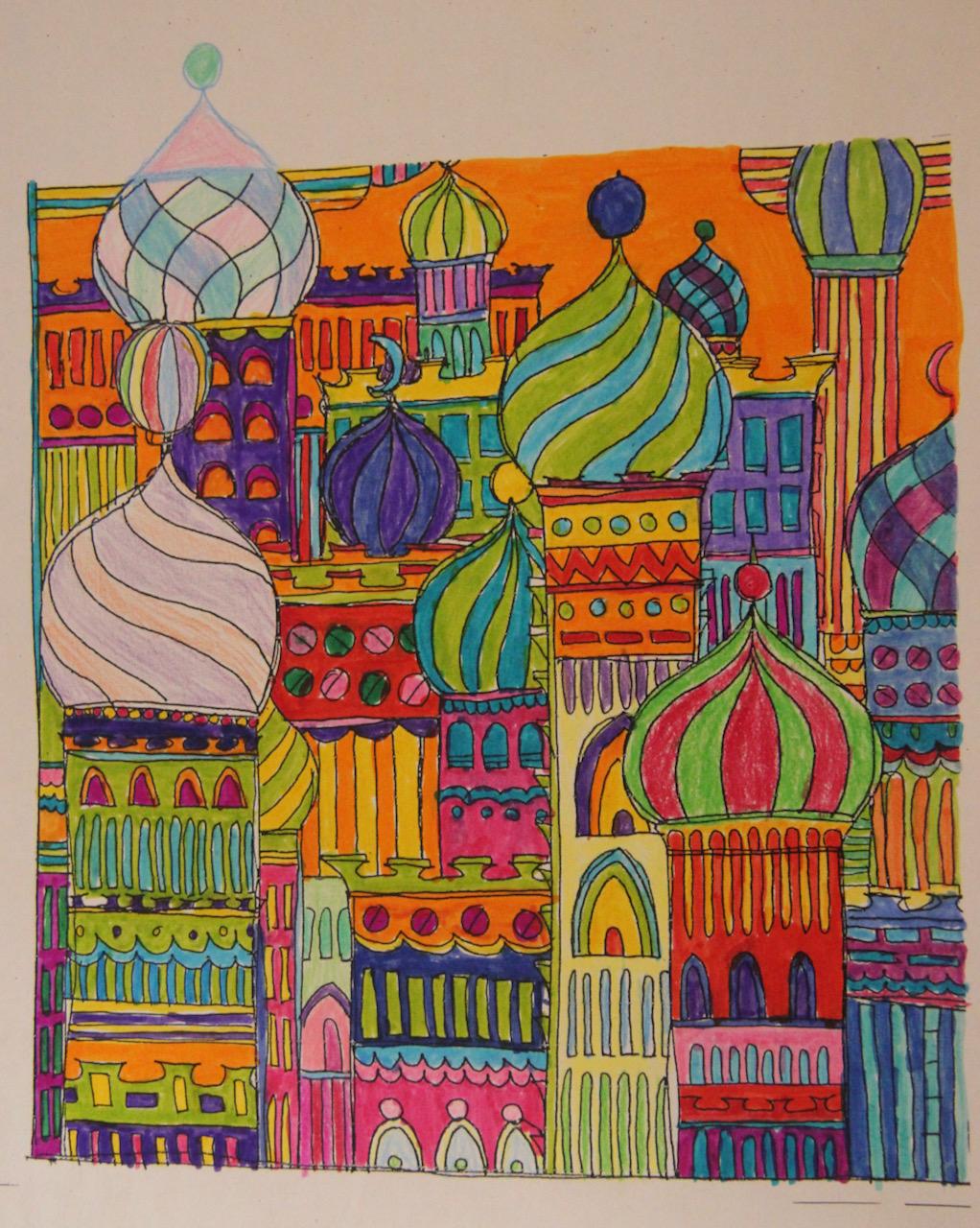 Hundertwasser-style-onion-domes