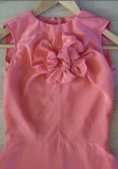 robe en coton et soie par Fée au Château couturière costumière à Versailles