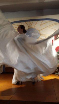 cape de danse serpentine d'après Loie Fuller par Fée au Château costumière 78 92