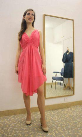 robe rose par Fée au Château couturière à Versailles