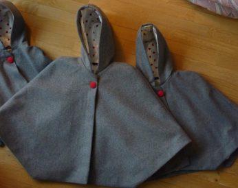 capes en laine pour cortège d'hiver par Fée au Château couturière costumière à Versailles