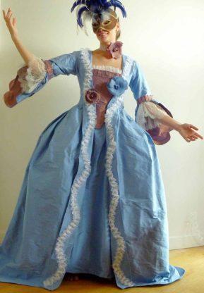 robe à la française par Fée au Château couturière costumière à Versailles