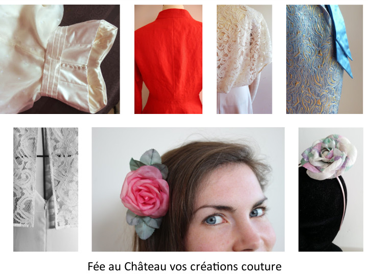Robes de mariée et de cocktail créées à Versailles