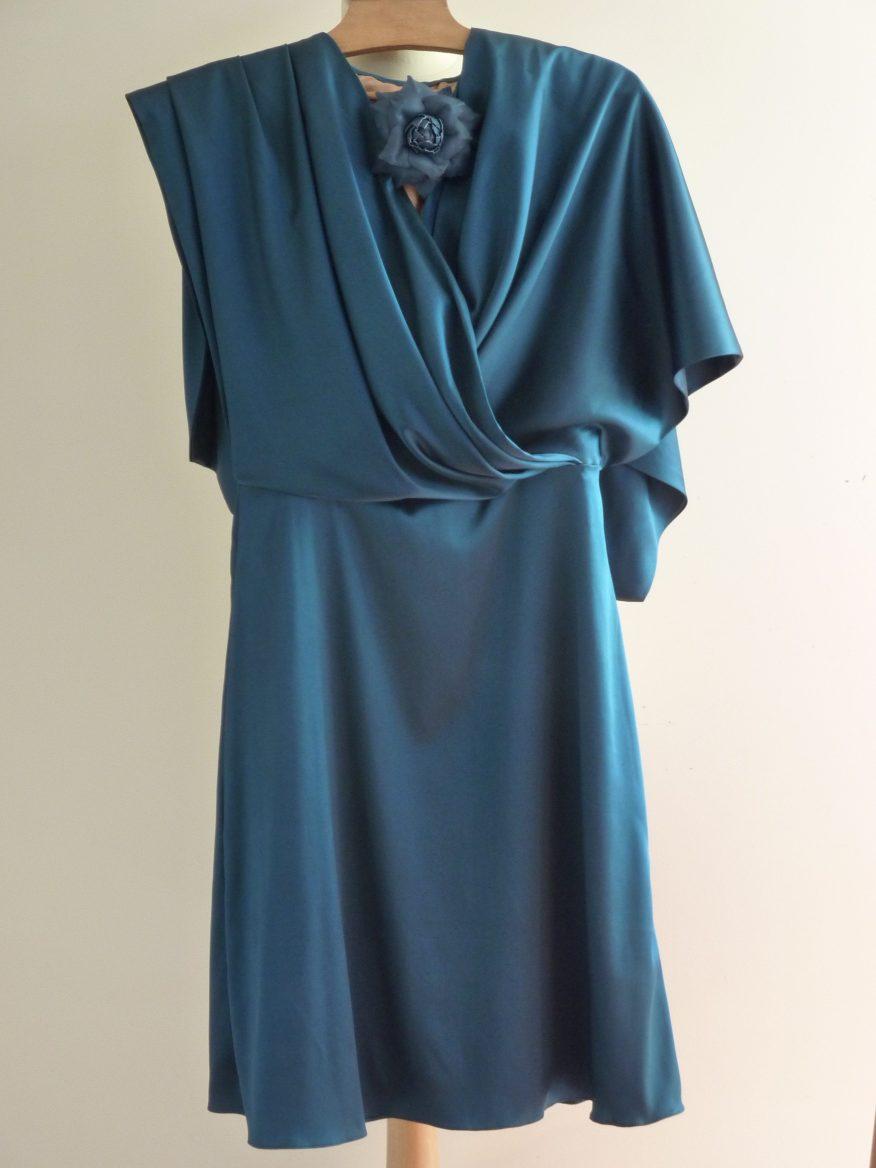 Robe en soie sur mesure par couturière à Versailles Fée au Château