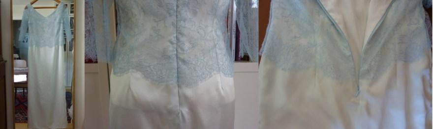 Robe de soirée longue en soie par couturière sur Versailles