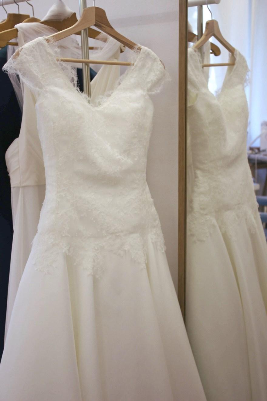 Robe de mariée couture à Versailles