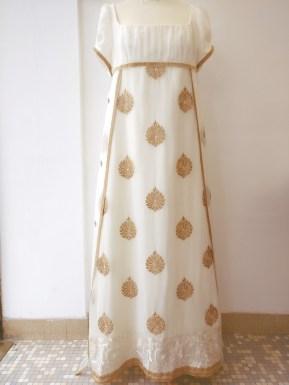 robe en soie de style empire