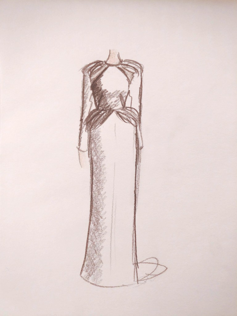 croquis de robe de mariée sur mesure