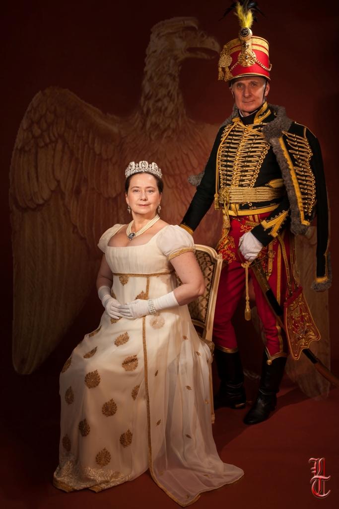 Costume Joséphine par Fée au Château couture à Versailles