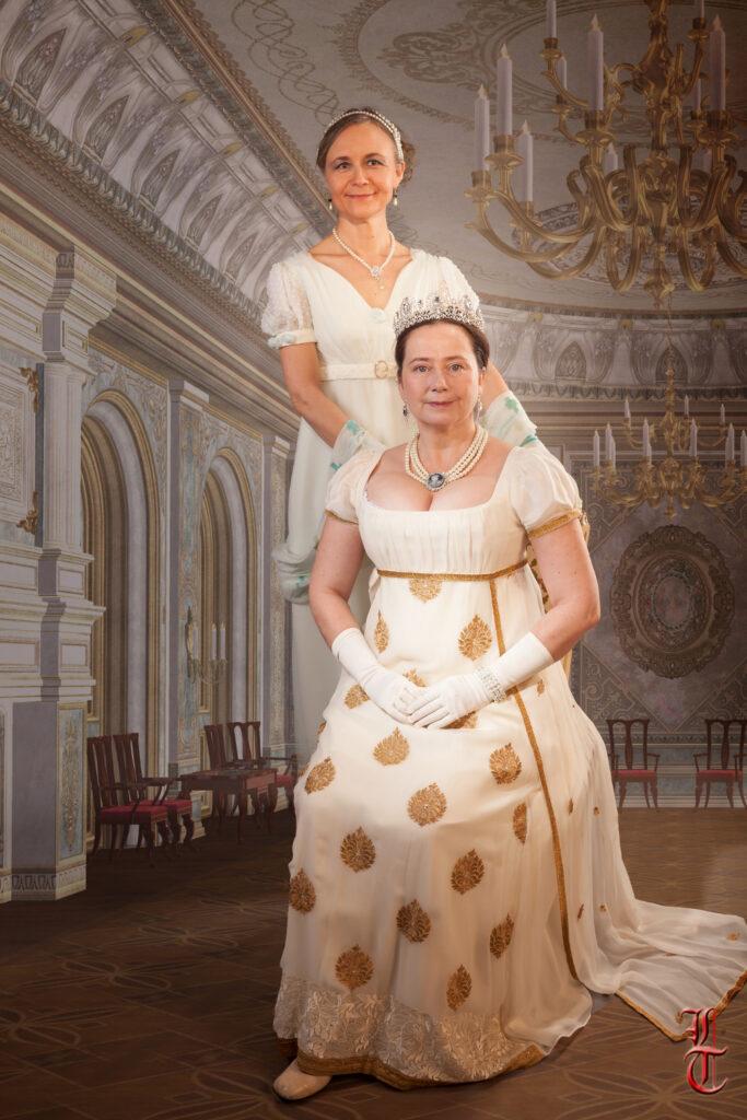 Costumes 1er empire par Fée au Château couture à Versailles