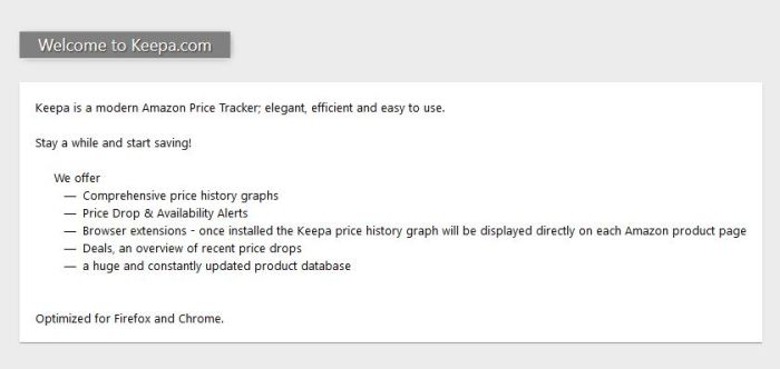 amazon product price history