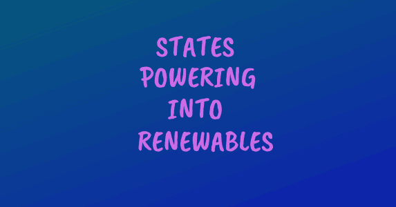Banner: states powering into renewables