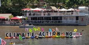Extinction Rebellion flotilla on the Yarra River Melbourne 12 Dec 2020