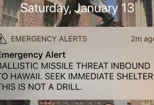 America,missile attack alert in America