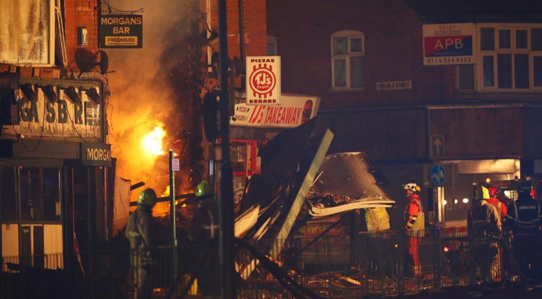 leicester explosion,Britain,arrest