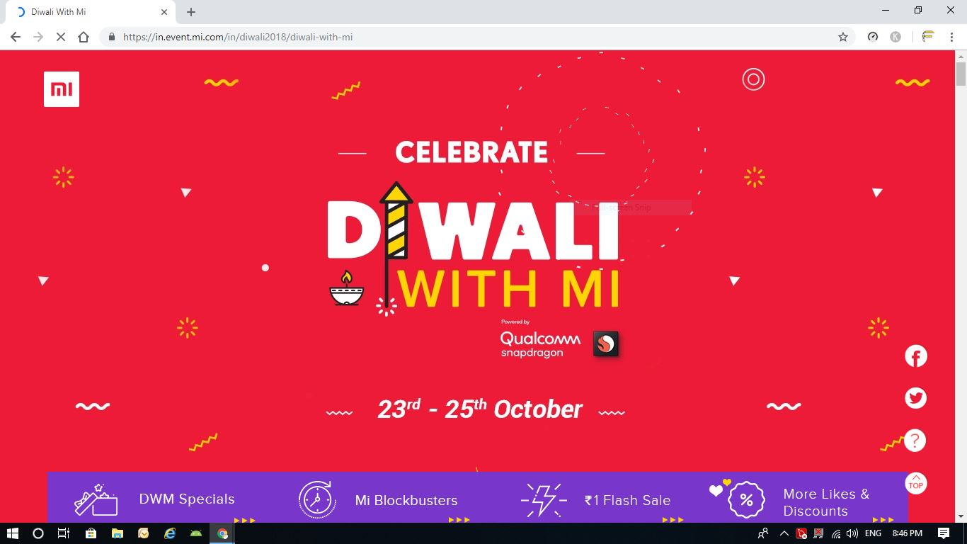 Xiaomi Diwali sale, Xiaomi, tech news, redmi note 5 pro, Flipkart, Diwali with Mi, tech New