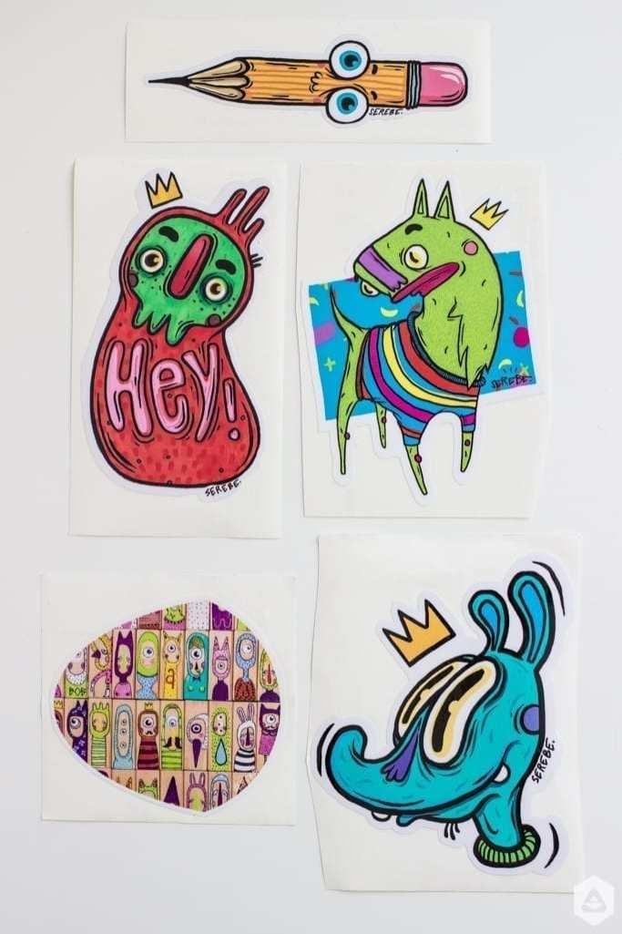 Paint-a-monument / Atelier pentru copii / Serebe (desen) + Octav (serigrafie)
