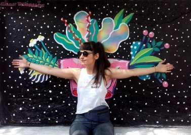 Alina Marinescu - 'In a Relationship' mural painted at Street Delivery, at the invite of Friends for Friends Foundation