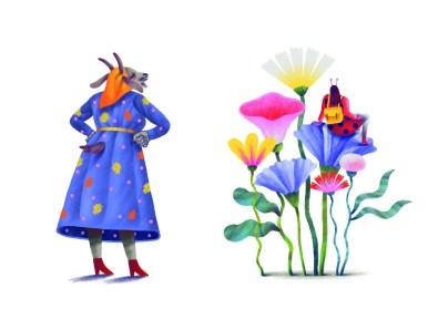 """Alina Marinescu - ilustrații """"Și animalele sunt oameni -poezii pentru copii între 3 și 103 ani"""" de Alexandru Mușina"""