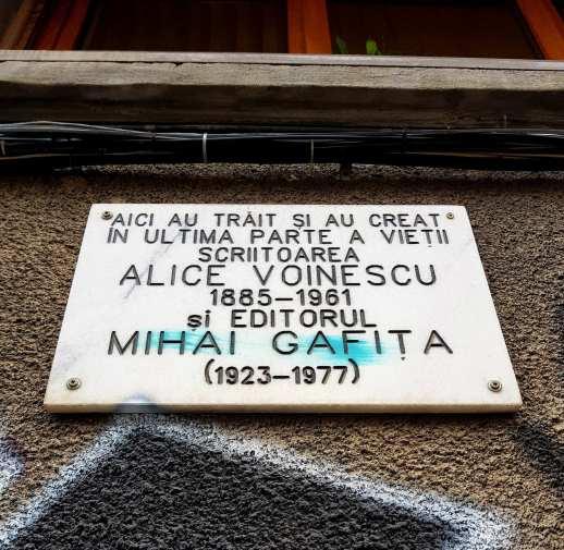 Casa in care au locuit Alice Voinescu si Mihai Gafita