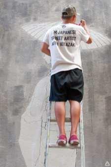 Japanese street artist Aito Kitazaki at Lente 24