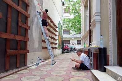 Japanese street artist Aito Kitazaki at Lente 27