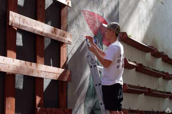 Japanese street artist Aito Kitazaki at Lente day 2