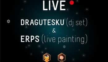 feeder sound LIVE with DRAGUTESKU(dj set)& ERPS(live painting)