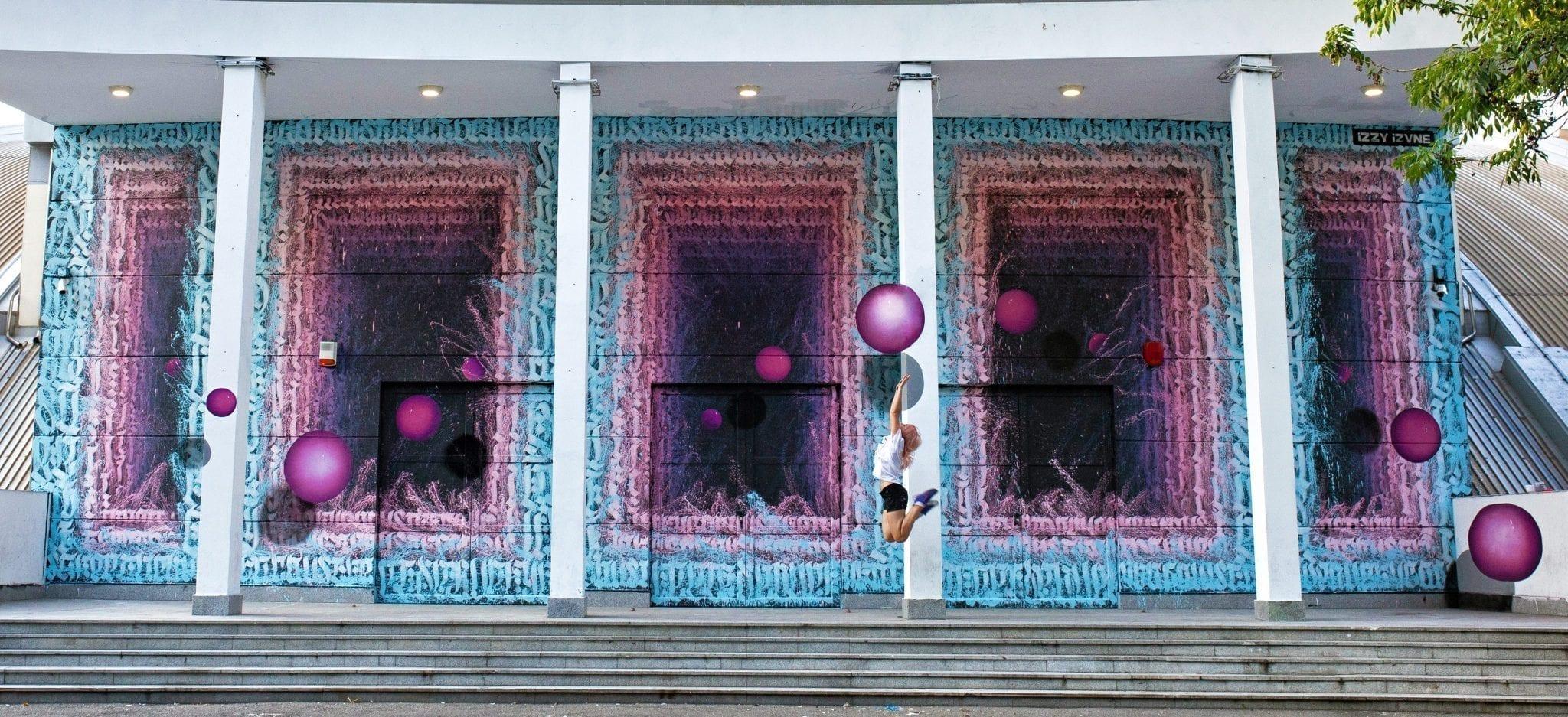 iZZY iZVNE -inner cosmos, Street Delivery, Bacău, 2019 [Un-hidden street art in Romania open call]