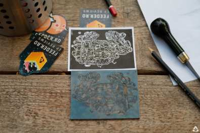 DIPLOMA x feeder.ro linocut workshop with Maria Bălan