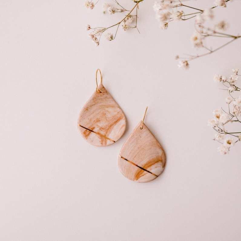 cappuccino earrings Mura