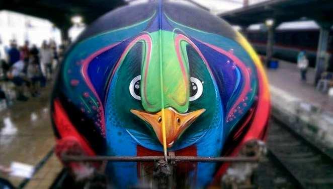 2014 Pass train Delivery - Gara de Nord