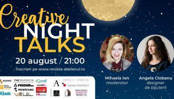 Creative Night Talks – platformă de conferințe online create de Revista Atelierul