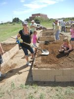 building gardens,planting gardens for families,food for families,fresh produce for people