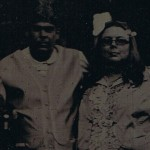 tintype of the author and a female friend