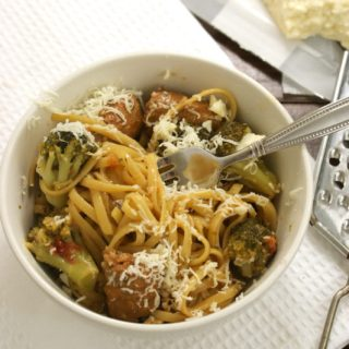 One Pan Pasta With Broccoli and Sausage