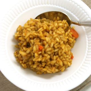 Roasted Pumpkin Risotto, (+Italian Wine Country)
