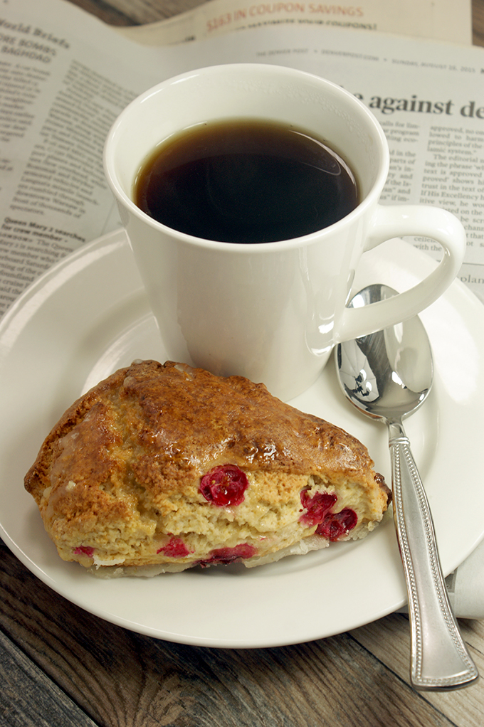 cranberry orange and ginger scones